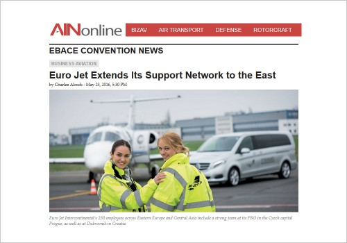 EURO JET EXTENDS ITS SUPPORT NETWORK TO THE EAST